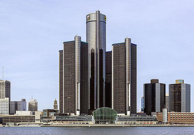 Renaissance Center, Detroit, Michigan. Photo by Crisco 1492.